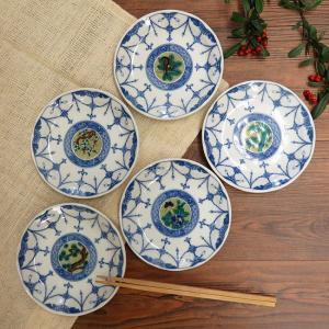 おしゃれ 陶器 和食器 九谷焼 小皿5枚セット 吉田屋絵変り|waza