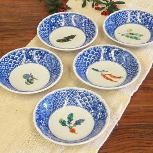 おしゃれ 和食器 鉢物 九谷焼 小鉢5個セット 野菜文 waza