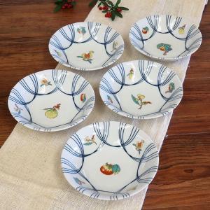 おしゃれ 和食器 鉢物 九谷焼 小鉢5個セット 果実文 waza