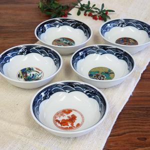 おしゃれ 和食器 鉢物 九谷焼 小鉢5個セット 時代絵 waza