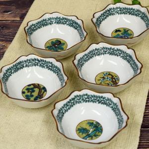 おしゃれ 和食器 鉢物 九谷焼 小鉢5個セット 吉田屋丸紋 waza