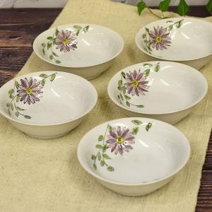 おしゃれ 和食器 鉢物 九谷焼 小鉢5個セット 花遊 waza
