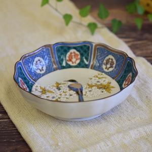 新築祝い お返し 品物 九谷焼 盛鉢 古九谷山桜に鳥 陶器 鉢物 waza