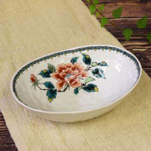 結婚祝い お返し 品物 九谷焼 盛鉢 赤牡丹 陶器 和食器 鉢物 waza