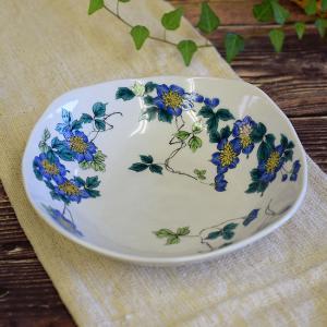 結婚内祝い お返し 贈り物 九谷焼 盛鉢 クレマチス 陶器 鉢物 waza