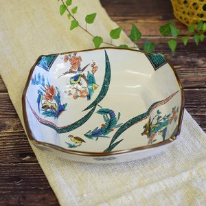 新築祝い お返し 品物 九谷焼 盛鉢 古九谷割取 陶器 和食器 鉢物 waza