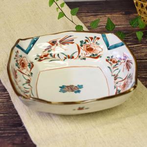 新築祝い お返し 品物 九谷焼 盛鉢 赤絵 陶器 和食器 鉢物 waza