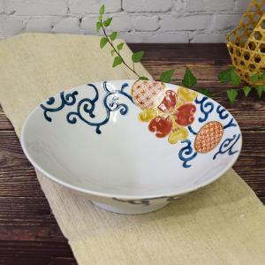 新築内祝い お返し 贈り物 九谷焼 盛鉢 赤絵花唐草 和食器 鉢物 waza