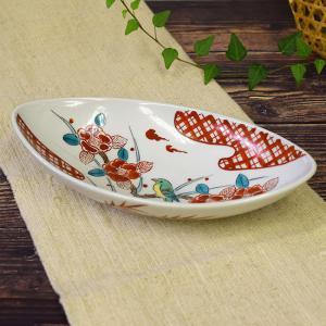結婚内祝い お返し 贈り物 九谷焼 盛鉢 山茶花に鳥 和食器 鉢物 waza