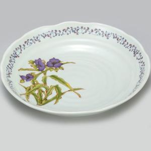 新築祝い お返し 九谷焼 盛皿 紫つゆ草 陶器 和食器 盛り皿 日本製|waza