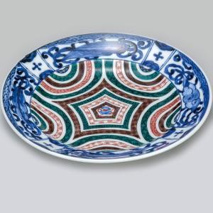 結婚祝い お返し 九谷焼 盛皿 古九谷幾可文 陶器 和食器 盛り皿 日本製|waza