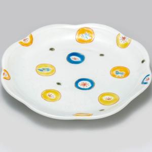 新築祝い お返し 九谷焼 盛皿 丸紋水玉 陶器 和食器 盛り皿 日本製|waza