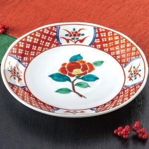 新築祝い お返し 九谷焼 盛皿 赤呉須椿 陶器 和食器 盛り皿 日本製|waza