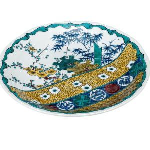 結婚祝い お返し 九谷焼 盛皿 古九谷風 陶器 和食器 27cm 盛り皿 日本製|waza