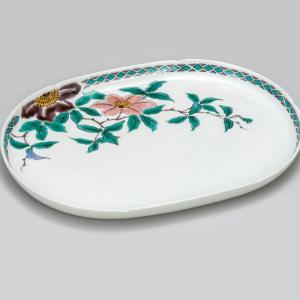 新築祝い お返し 九谷焼 盛皿 鉄仙 陶器 和食器 盛り皿 日本製|waza