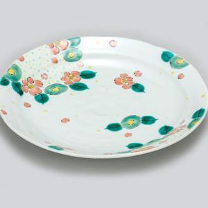 新築祝い お返し 九谷焼 盛皿 花園 陶器 和食器 24cm 盛り皿 日本製|waza