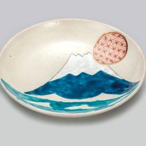 結婚祝い お返し 九谷焼 盛皿 富士小紋 陶器 和食器 22.5cm 盛り皿 日本製|waza