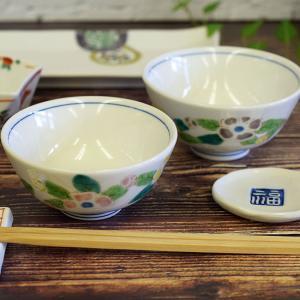 還暦祝いギフト 九谷焼 夫婦茶碗 花文|waza