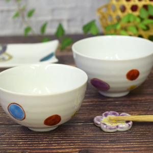 還暦のお祝い 品 九谷焼 夫婦茶碗 ドット|waza