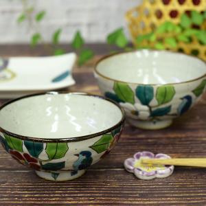 還暦のお祝い 品 九谷焼 夫婦茶碗 椿に鳥|waza