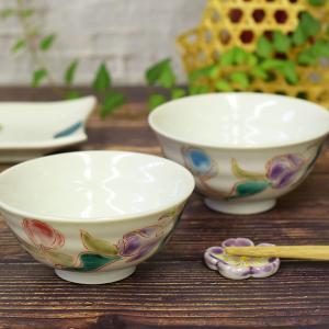 還暦祝いギフト 九谷焼 夫婦茶碗 チューリップ|waza