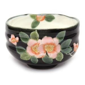 還暦祝い プレゼント 九谷焼 抹茶碗 海棠