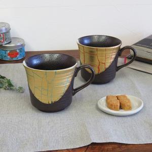 結婚記念日 ギフト 九谷焼 ペアマグカップ 金箔彩 日本製 ブランド|waza
