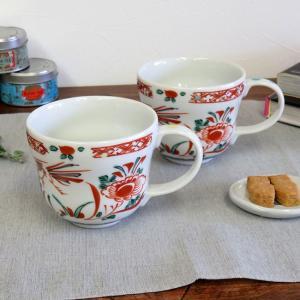 古希祝い ギフト 九谷焼 ペアマグカップ 赤絵 日本製 ブランド|waza