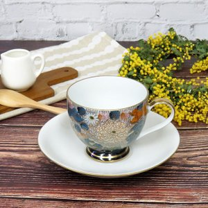 九谷焼 コーヒーカップ 金花詰 陶器 日本製 ブランド waza