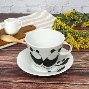九谷焼 コーヒーカップ パンダ 陶器 日本製 ブランド waza