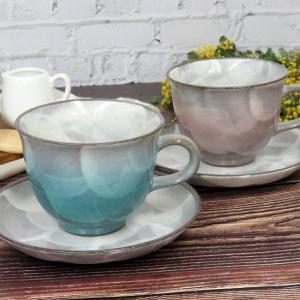 結婚祝い ギフト 九谷焼 コーヒーカップ&ソーサー ペアセット 釉彩|waza