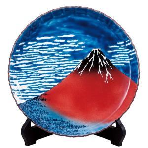 絵皿 九谷焼 飾り皿 凱風快晴 新築祝い 開店祝い 叙勲祝いギフト|waza
