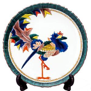 絵皿 九谷焼 飾り皿 鳳凰 新築祝い 開店祝い 叙勲祝いギフト 記念品|waza