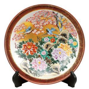 絵皿 九谷焼 飾り皿 牡丹花鳥 新築祝い 開店祝い ギフト|waza