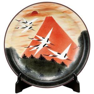 絵皿 九谷焼 飾り皿 赤富士 新築祝い 開店祝い 叙勲祝いギフト|waza