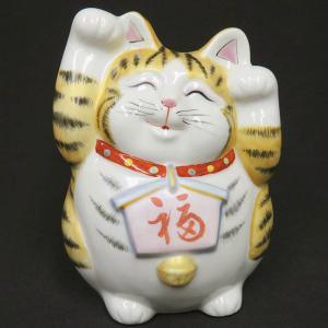 ご存知、招き猫は右手で金運、左手でご縁(お客)を招くと言われています。こちらの招き猫さんは両手を上げ...
