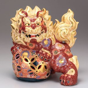 新築祝い 魔除け ギフト 九谷焼 獅子 盛 記念品 贈答品 プレゼント|waza