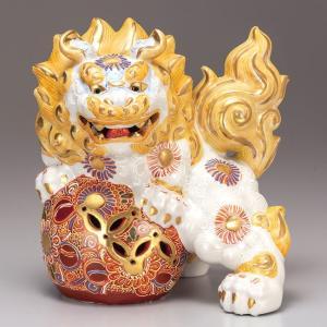 開店祝い 魔除け ギフト 九谷焼 獅子 白盛 記念品 贈答品 プレゼント|waza