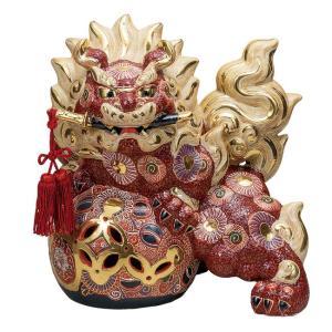 新築祝い 開店祝い 魔除け ギフト 九谷焼 12号 剣獅子 盛 贈答品 プレゼント|waza