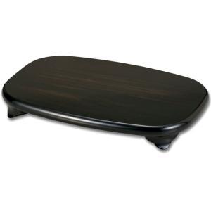 【花台】12号 木製 小判平台(黒丹調)飾り台|waza