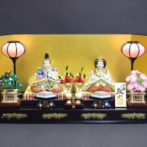 加賀百万石の雛人形 九谷焼 陶器のひな人形 盛 初節句お祝いセット一式|waza