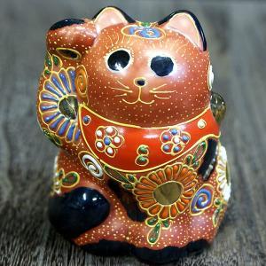 九谷焼 招き猫 ■ここがポイント! 招き猫は右手で金運を招き、左手でお客を招きます。この招き猫は、王...