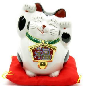 ☆えっ?両手招き?☆ 右手は金運、左手はご縁を招くと云われる招き猫さんですが、この猫ちゃんは、両方手...
