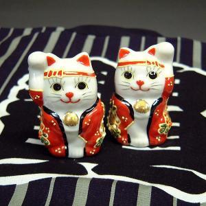 無病息災を願う!お祭り兄弟 招き猫(ペア)|waza