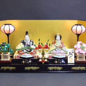 加賀百万石の雛人形 九谷焼 陶器のひな人形 プラチナ・ライン 初節句お祝いセット一式|waza