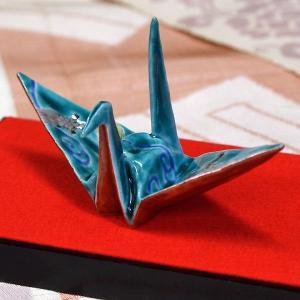 九谷焼 色絵折り鶴 鶴亀|waza