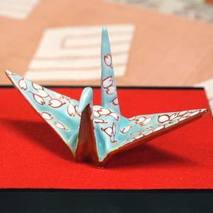 九谷焼 色絵折り鶴 桜|waza