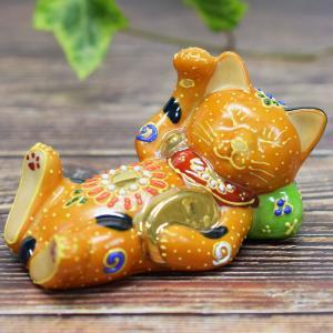 九谷焼 果報は寝て待て 招き猫|waza