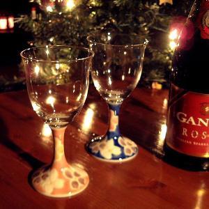 結婚祝いプレゼント 陶器 ペア ワイングラス 花文|waza