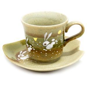 誕生日プレゼント 九谷焼 コーヒーカップ はねうさぎ|waza